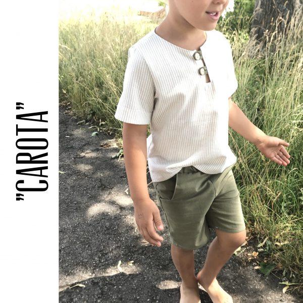 "Kinderhemd ""Carota"": Digitales Schnittmuster und EBook (Größen 98-122)"