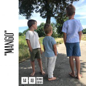 """Kinderhose """"Mango"""": Digitales Schnittmuster, EBook + Beamerdatei mit Ebenen (Größen 98-140)"""