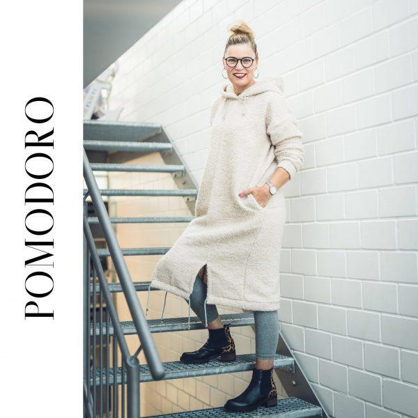 """Digitales Schnittmuster Oversized Kleid und Pullover """"Pomodoro"""" (Größen XS - XXL)"""