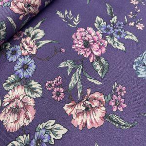 Viskose Blumen (lila)