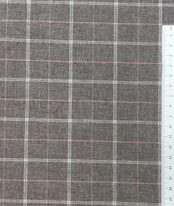Baumwollmischung, Karomuster, Braun