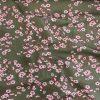 Jersey Blumen in Dunkelgrün