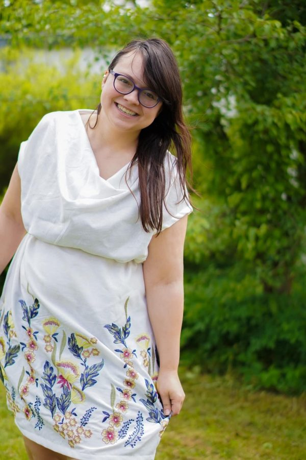 """Kleid/Bluse """"Sellerie"""" (Größen 34 - 48) Digitales Schnittmuster und Nähanleitung"""