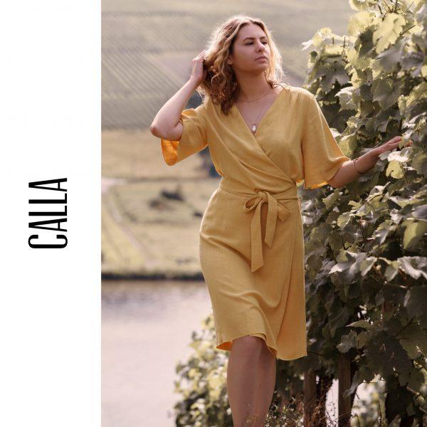 """Kleid/Bluse """"Calla"""" (Größen 34 - 48) Digitales Schnittmuster und Nähanleitung"""